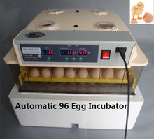 Automatic 96 Eggs cheap Incubator China Mini  Turning Hatching Machines CE certificate  220-240V  160W
