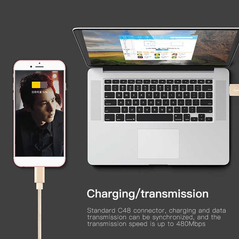NOHON nylonowy kabel szybkiego ładowania USB dla Apple iPhone XR XS MAX X 8 7 6S 5S 5 6 Plus ipad mini telefon oświetlenie kable danych ładowania