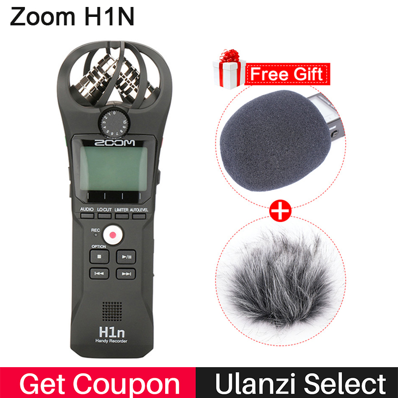 ZOOM H1 H1N Handy Recorder Digital Camera Audio Recorder Stereo Microphone for Interview SLR Recording Microphone for DSLR