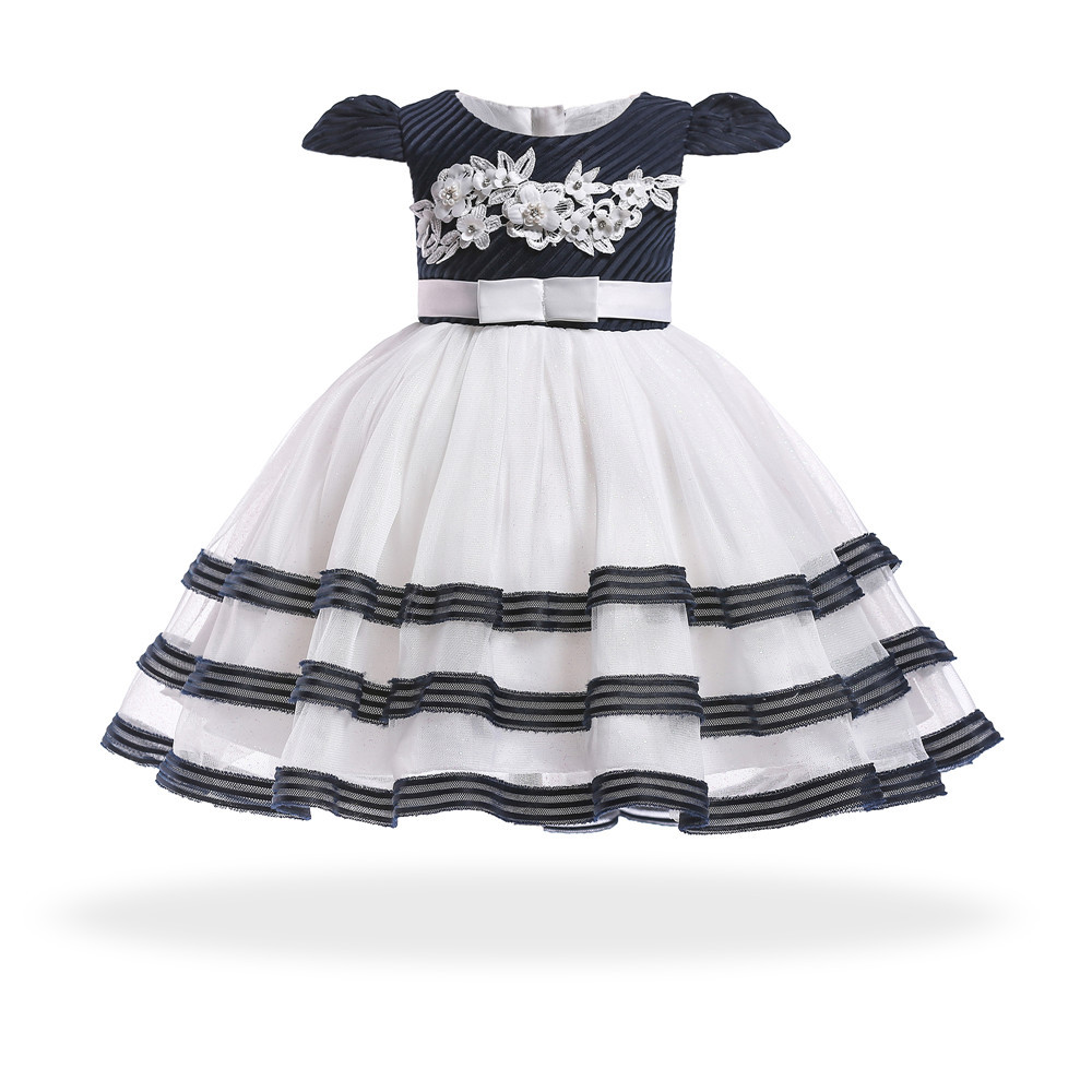 Baby Girl First Birthday Toddler Children dress striped Christmas Halloween Costume Cartoon baby Dress Fancy Kids Party Wear