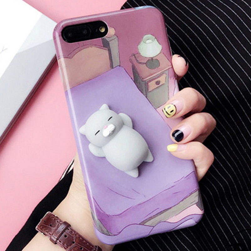 best sneakers 5d3ab c3fbc US $2.45 |3d cute soft silicone squishy cat phone case for iPhone 6 6s plus  7 7plus 3d squishy phone case kawaii silicone sea lions-in Fitted Cases ...