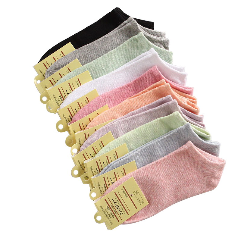 MOBTRS 10pairs/lot Sock Cotton Woman Casual Wide Stripes Socks Women Fashion All-Match Boat Girl