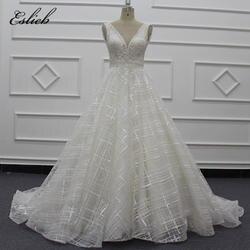 Eslieb винтажное свадебное платье на молнии YKK на заказ 2019 с кристаллами ручной работы свадебные платья Vestido de Noiva платья
