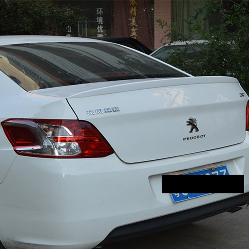 For Peugeo 301 Spoiler High Quality ABS Material Car Rear Wing Primer Color Rear Spoiler For Peugeo 301 Spoiler 2013-2015