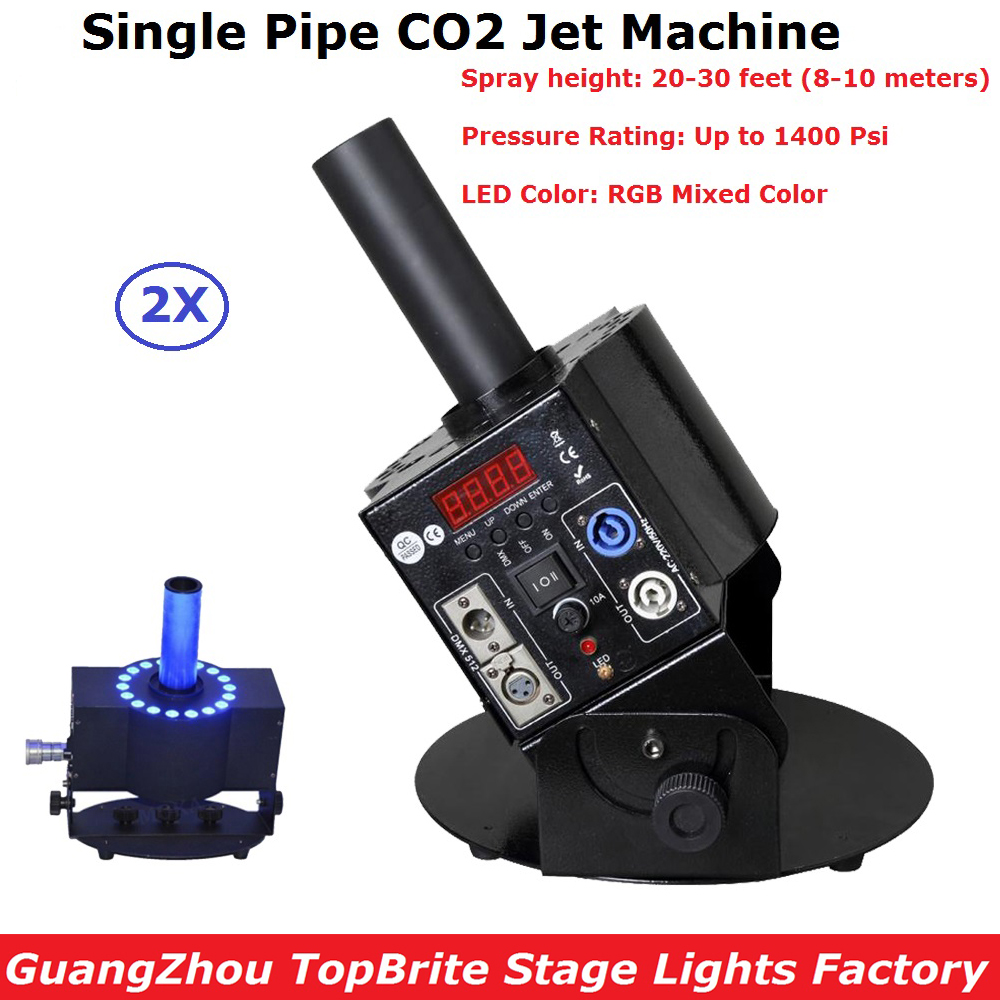 2Pcs/Lot Stage DJ Disco Lighting Projector 6 Meter Hose CO2 Jet DMX Stage Effect Machine Shoot 20-30 feet Up Smoke 200w co2 jet machine with 6m gas hose dmx control for party disco dj event show