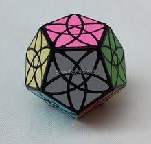 Mf8 bauhinia dodecaedro cubo preto twsit quebra-cabeça brinquedos educativos presente idéia transporte da gota