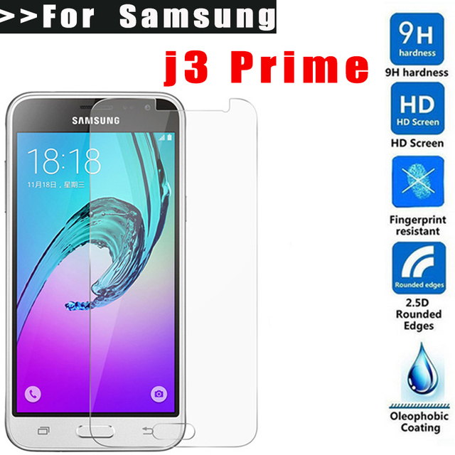 MLLSE 9H HD Tempered Glass For Samsung Galaxy J3 Prime Screen Protector