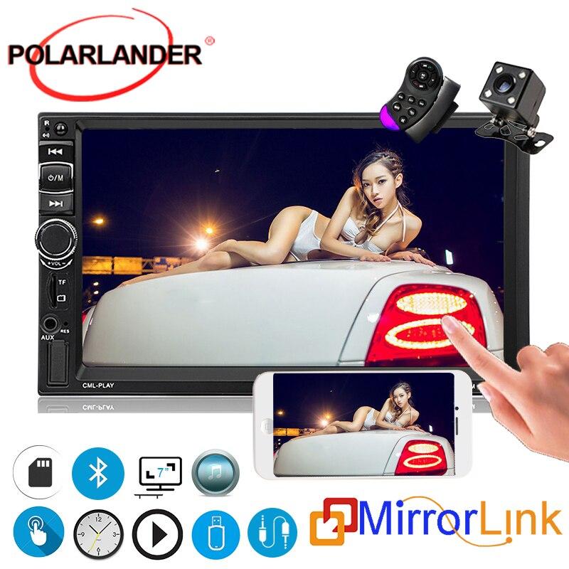 Écran tactile de moniteur de voiture de 2 Din lien de miroir d'autoradio de 7 pouces pour Android FM/MP5/USB/AUX dans 7031TM multimédia Bluetooth