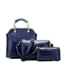 Marcas famosas Bolso de Cuero Bolsos de La Vendimia Bolsas Mensajero de Las Mujeres Crossbody bolsas para Mujeres Bolso 3 Sets Bolsos Sac A Principal A0267