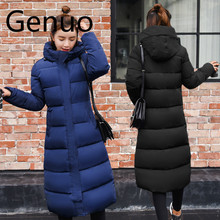Plus size 3XL Down jackets 2019 Fashion Women Winter Coat Long Slim Thicken Warm Jacket Down Cotton Padded Jacket Outwear Parkas цены онлайн