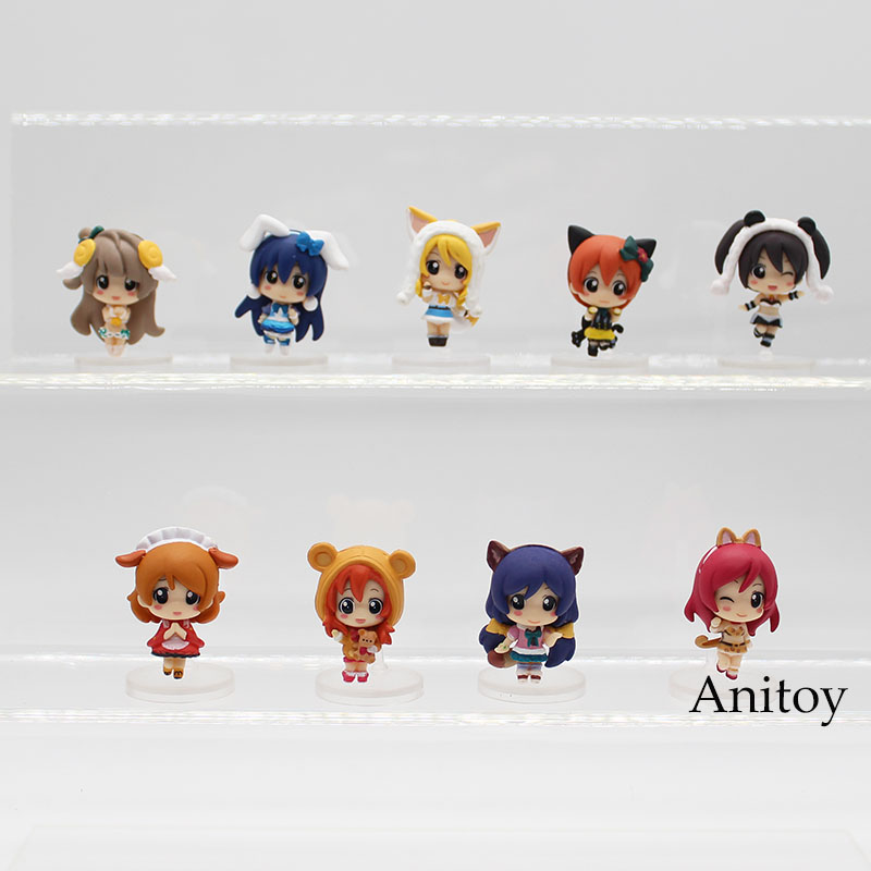 Love Live! School Idol Project 9pcs/set Yazawa Nico Kotori Minami Pendant & Nozomi Tojo PVC Action Figure Collectible Toy KT3332 массажер nozomi мн 103 лампа ионного изл