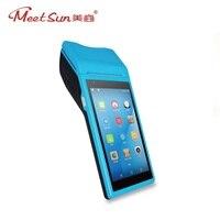 Meetsun ZJ 015 Android 6,0 Wirelss портативный ручной POS кассовый аппарат 5,5 ''hd дисплей Мобильный POS и 1D сканер штрих кода, принтер