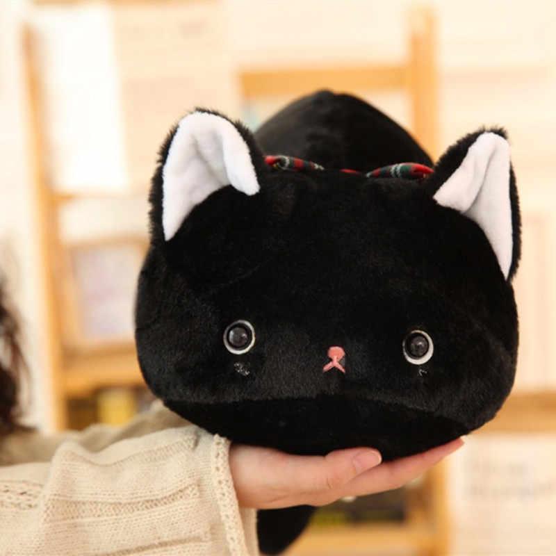 Quente gato preto de pelúcia bonito gordura San-X anime figura dos desenhos animados Japoneses kutsushita nyanko gato travesseiro de pelúcia brinquedos do bebê brinquedos para as crianças