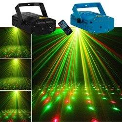 Aucd mini remoto portátil vermelho verde meteoro chuveiro projetor laser luz dj casa festa de natal feriado mostrar iluminação palco led oi100