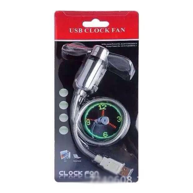 MINI Flexible LED USB Clock Fan Watch 11