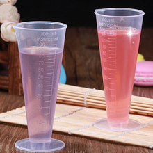 100ml Measuring Cup Transparent Plastic Measuring Cup Hotel Bar Jug Pour Spout Cylinder
