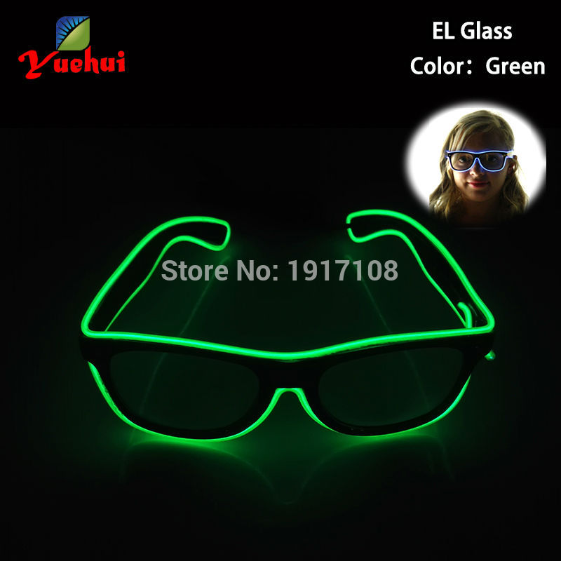 Fashion 10 Color glittery Wedding Decor Sound active Light up LED Glasses EL Sunglasses For Festival,Christmas,Party decoration