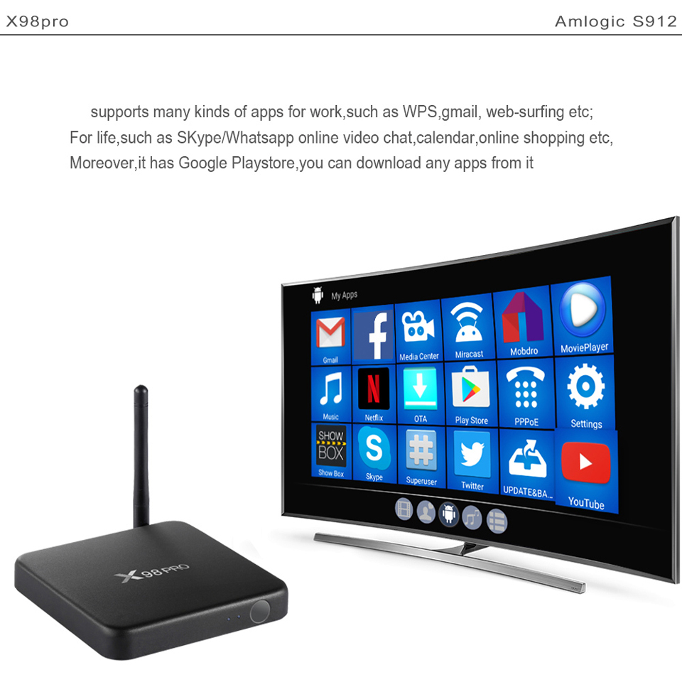 X98Pro Box with 1 Year SUBTV Arabic French FULL HD 4K IPTV Subscription 3G 32G Android TV Box S912 Portuguese IPTV Subscription  (13)