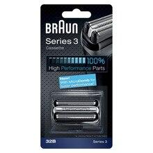 32B Black Shaver Foil Cutter Shaver Head for Braun Braun Series 3 320 330 340 380 390 3090CC 350CC 320S 330S 32B Cassette