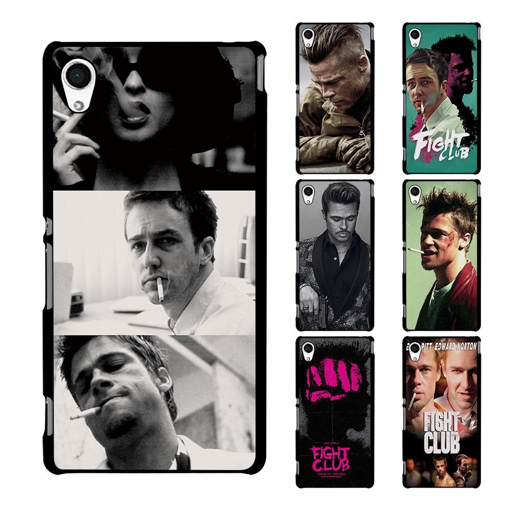 Design poster k3 - Brad Pitt Fight Club Poster Design Hard Black Case Cover For Sony E5 E4 C5 C4