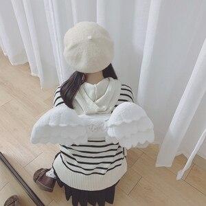 Image 5 - Japanese Cute Angel Wings Plush Backpack Kawaii Small Backpack Childrens Bag Girl Gift