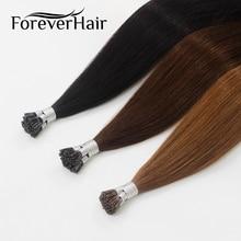 """Волос навсегда 0.8 г/локон 16 """"Remy Наконечники I человека Наращивание волос Популярные Цвет Fusion 100% Европейский человеческих Наращивание волос кератин Совет"""