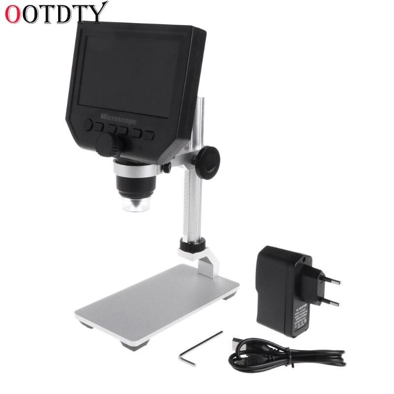 OOTDTY G600 4 3 LCD Digital Microscope LED Zoom 1 600X 3 6MP HD Camera Video
