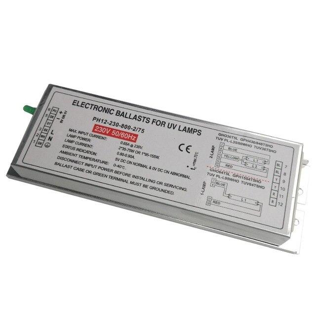 PH12 230 800 2/75 Entkeimungslampe Elektronische Vorschaltgeräte für ...