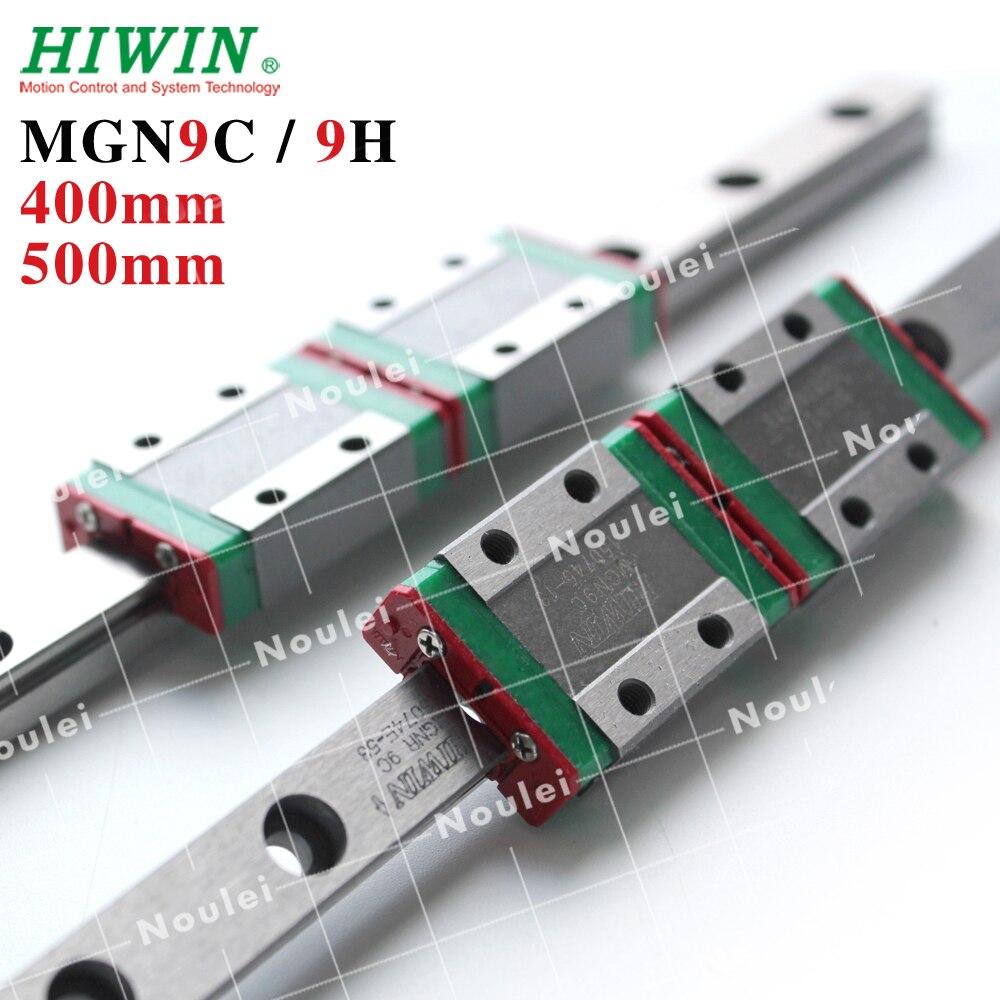 HIWIN CNC Guide Rail Set 2pcs Stainless Steel MGN9 400mm 500mm 600mm mini Linear Slide Rail + 4pcs Blocks MGN9H MGN9C