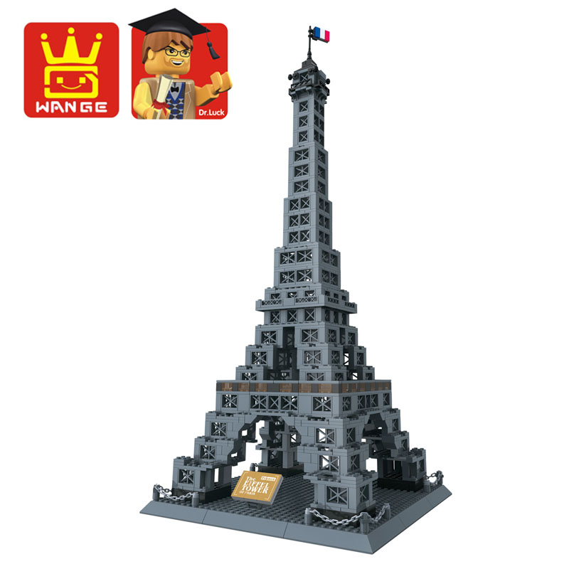 Famous Architecture Series 978pcs The Eiffel Tower 3D Model Building Blocks Classic Toys Compatible with Legoed Bricks купить