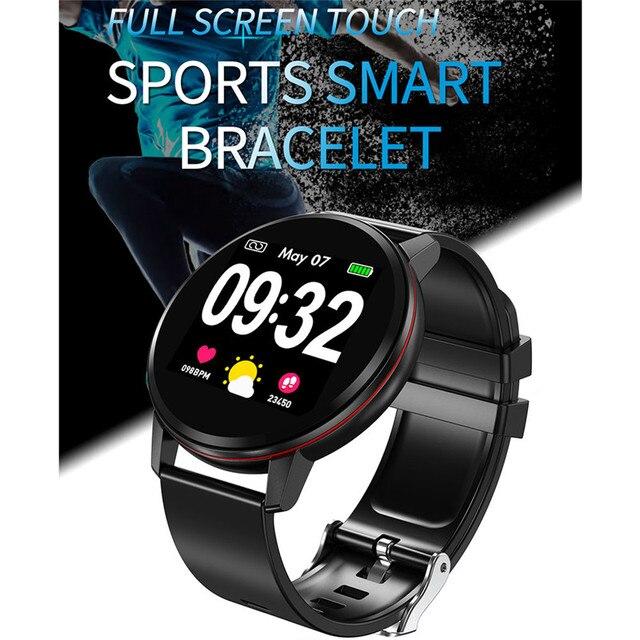Lige esportes pulseira inteligente ip67 à prova dip67 água relógio de fitness tela cheia toque pode controlar a reprodução música para android ios + caixa
