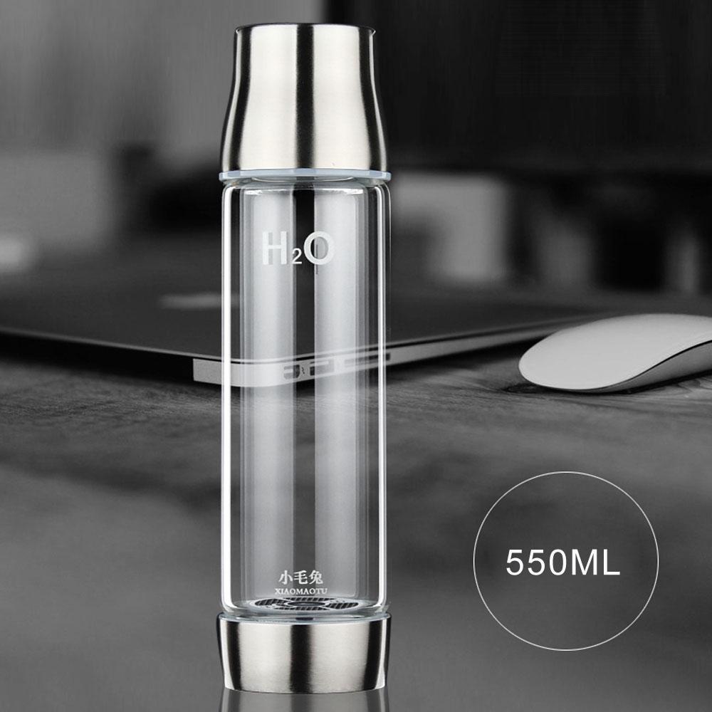XIAOMAOTU 3G 550ML Touch Healthy <font><b>Hydrogen</b></font> <font><b>Rich</b></font> <font><b>Water</b></font> Ionizer Bottle <font><b>Hydrogen</b></font> Generator Rechargeable Glass <font><b>Water</b></font> <font><b>Cup</b></font> BPA-free