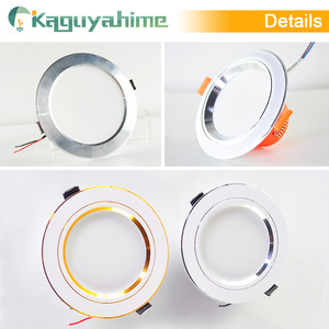 Image 5 - Kaguyahime LED Downlight 220V 240V LED Ceiling Lamp 18W 15W 12W 9W 5W 3W Gold/Silver/White Round Recessed Light LED Spotlight