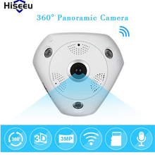 hiseeu 3.0MP 360 Degree Fisheye Panoramic Camera Wireless 3D VR Panorama HD IP Camera Indoor CCTV Cam Security WiFi Camera