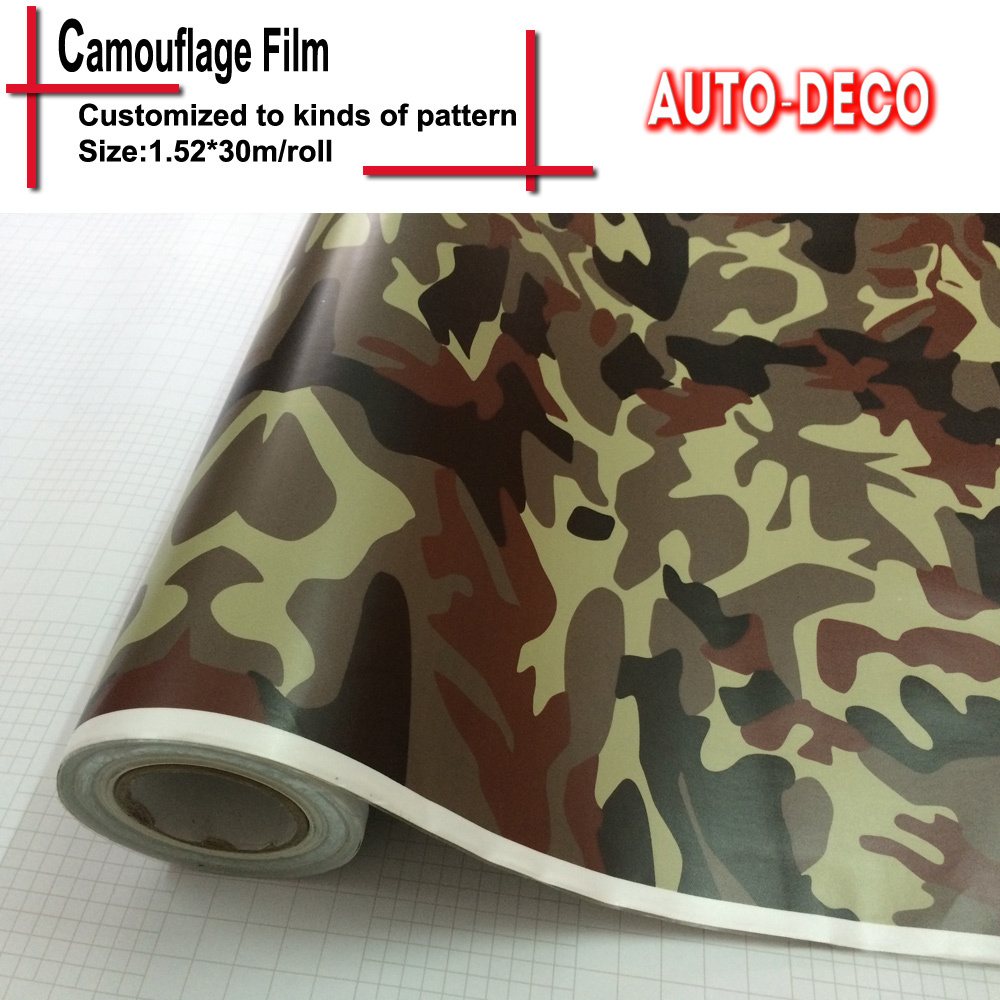 FedEx Free Shipping Hot sale Camouflage Vinyl Sticker Bomb Wrap Sticker on Car DacalsRolls Sheet Foil With Air Drains 30m/roll