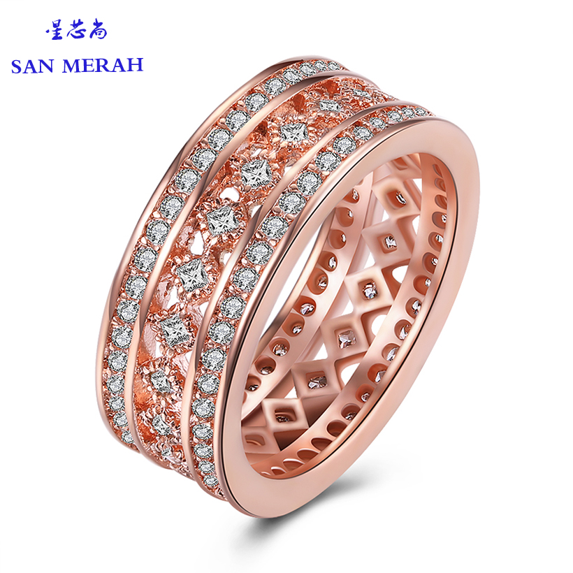 rose gold loves Ring 925 fashion hollow-carved design Jewelry for Women Wedding and Engagement Ring 2017 Carter Rings For Women