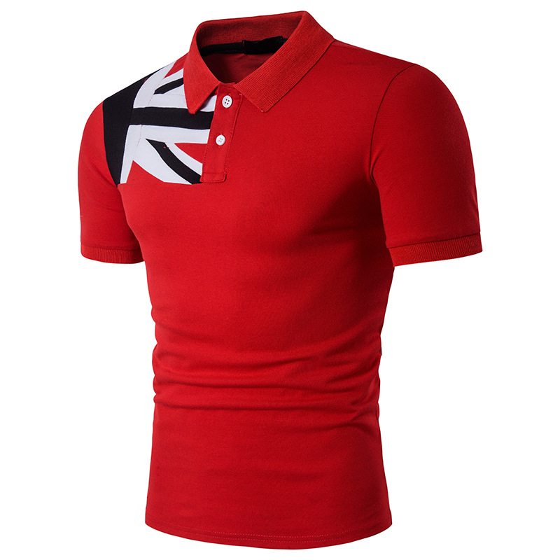 Mandarin Collar Short Sleeve Tee Shirt Men 2017 Spring Summer New Top Men Brand Clothing Slim Fit Cotton   Polo   B66