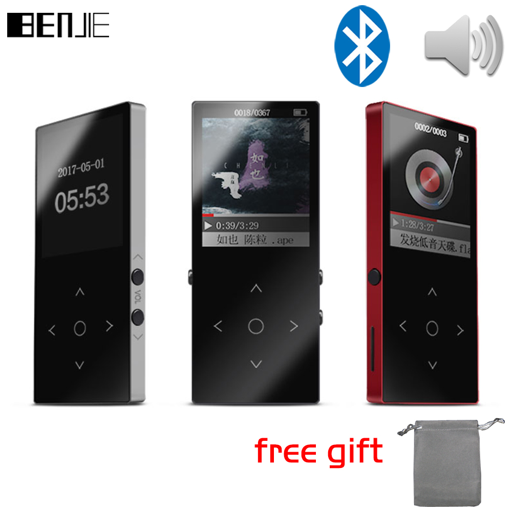 Original BENJIE K8 Bluetooth MP3 player 8GB Sport Mp3 Music Player Recorder FM Radio Support TF Card With Build in Speaker