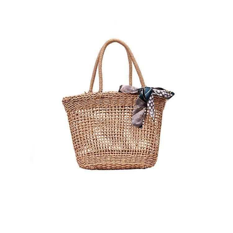 Mode femmes sac à main été plage en osier sac rotin tissé à la main tricoté paille grande capacité Totes femmes sac à bandoulière