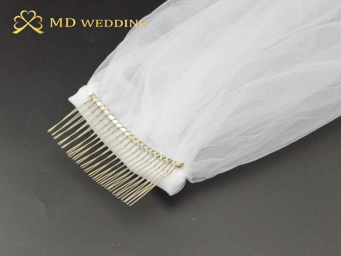 Image 5 - White Ivory 5M Long Embroidered Lace Applique Lace Wedding Veil Long Bridal Veil Wedding Accessories With Comb EE02-in Bridal Veils from Weddings & Events