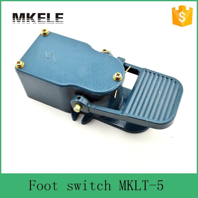 MKLT-5 hot sell free shipping electrical momentary industrial factory direct high quality sewing machine foot pedal switch hot sale lt4 202h factory price cheap ce newest latest metal double pedal foot switch for bending machine punch