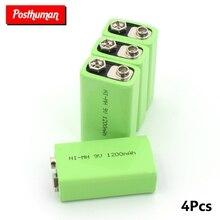 POSTHUMAN по низкой цене и с высоким качеством 9V 1200mAh аккумуляторная батарея для инструментов никель-металл-гидридных аккумуляторных батарей для игрушек дыма