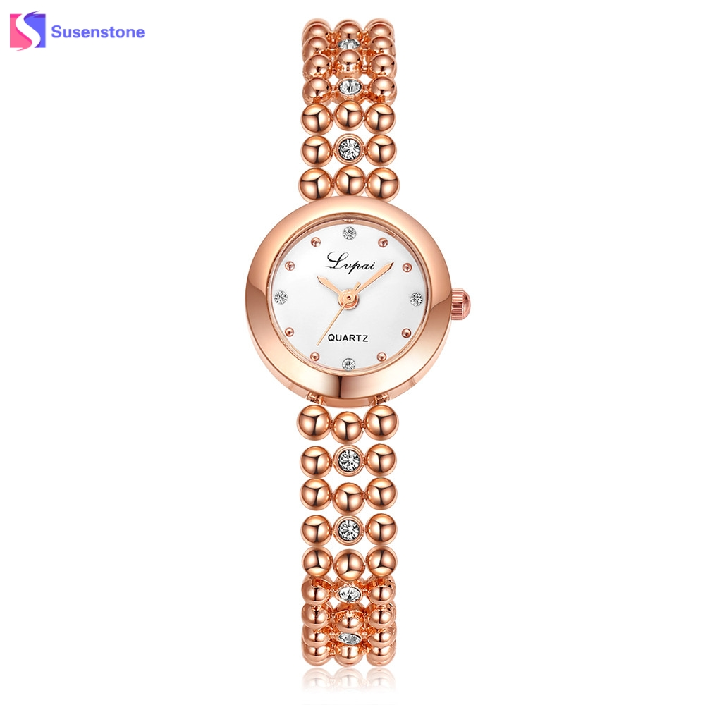 LVPAI Fashion Women Watch Silver/Rose Gold Stainless Steel Rhinestone Quartz Wrist Watch New Small Watch Ladies Bracelet Watches 2017 lvpai flower rose gold bracelet watches women fashion casual quartz watch rhinestone wristwatches girls bangle women watch