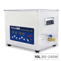 10L ultrasonic cleaner Power Time Heater Adjust Motherboard Car Parts oil rust Engine Block removing laboratory Bath