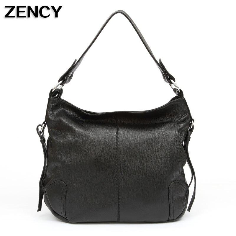 ZENCY Fast Sending תיק עור מקורי לנשים תיקי - תיקי יד