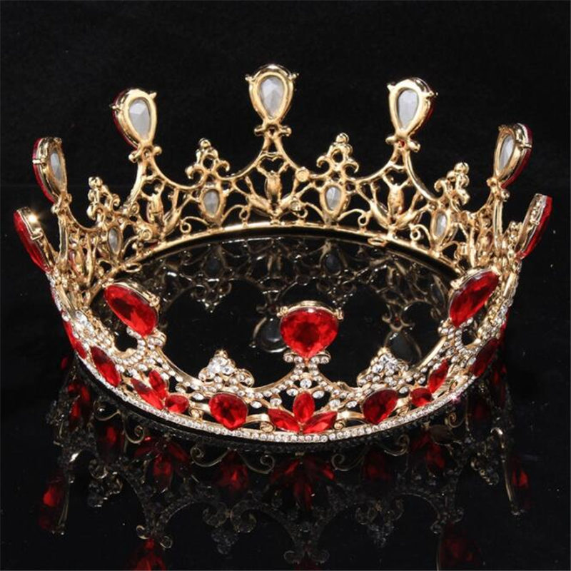 все цены на Queen King tiara Crown Large Bridal Wedding Tiaras and Crowns Headdress Women Head Jewelry Ornament Bride Hair accessories