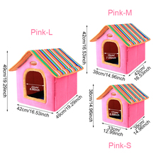 Fashion Pet Dog Puppy Cat House Bed Striped Removable Cover kennel Mat For Big Medium small pet Products Accessories Supplies