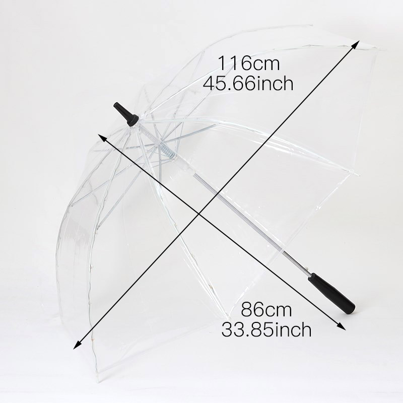 Image 2 - LED Light Transparent Unbrella For Environmental Gift Shining Glowing Umbrellas Party Activity props Long Handle Umbrellas-in Umbrellas from Home & Garden
