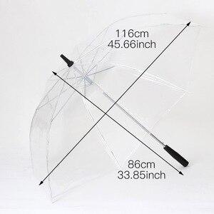 Image 2 - Led ışık şeffaf şemsiye çevre hediye parlayan parlayan şemsiye parti etkinliği sahne uzun saplı şemsiye