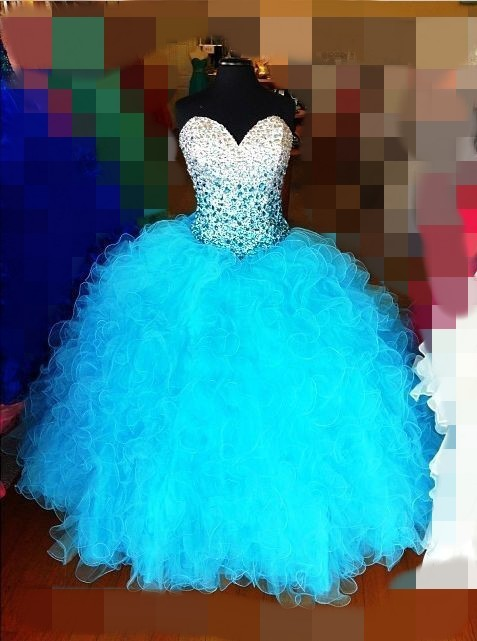 Cheap Mint Green Quinceanera Ball Gowns 2019 Crystal vestidos de 15 anos Sweet 16 Prom Plus Size Quinceanera bridesmaid Dress